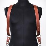 harnais en cuir pour photographe couleur châtaigne