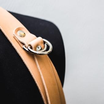 harnais photographe en cuir avec Dés épaule