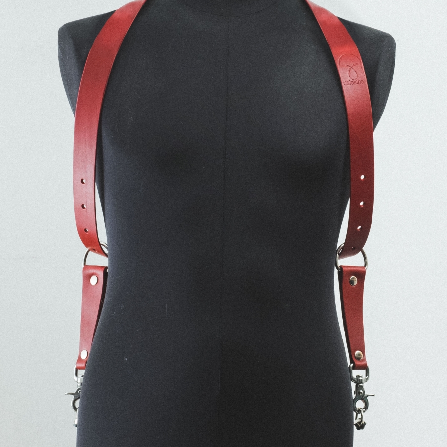DELeather_harnais-rouge-6