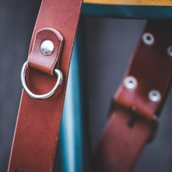 dé épaule de harnais en cuir châtaigne pour photographe