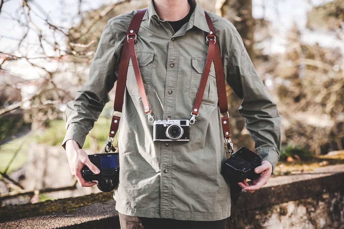 harnais en cuir pour photographe