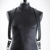harnais en cuir noir à tannage végétal pour photographe