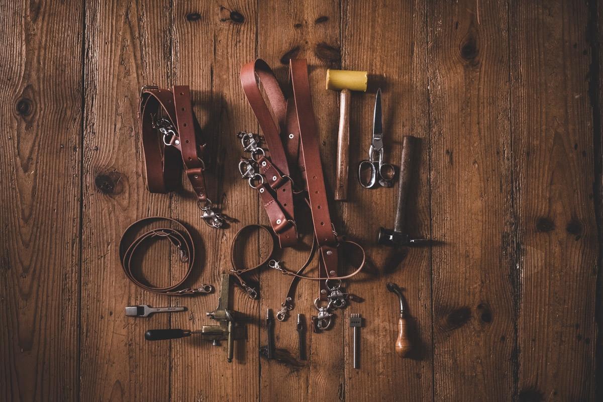 harnais sangles cuir photographe