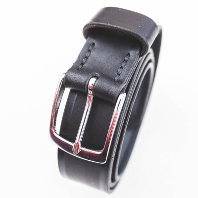 DELeather ceinture cousue main