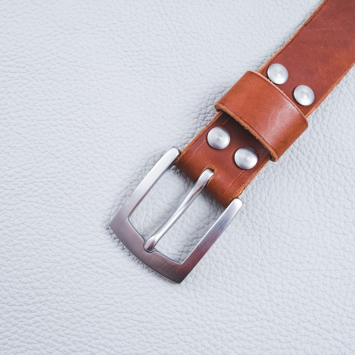DELeather ceinture boucle 30mm inox