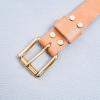 DELeather ceinture boucle 30mm rouleau laiton