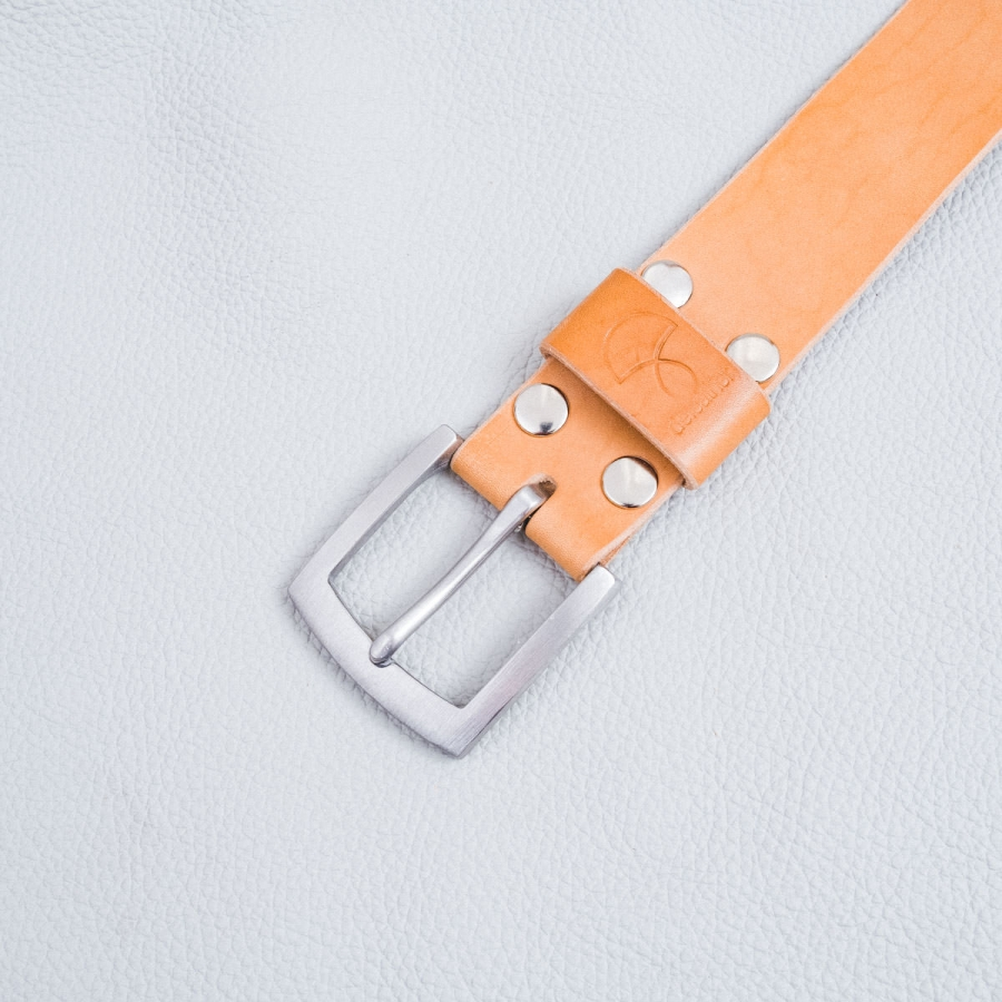 DELeather ceinture boucle 40mm inox